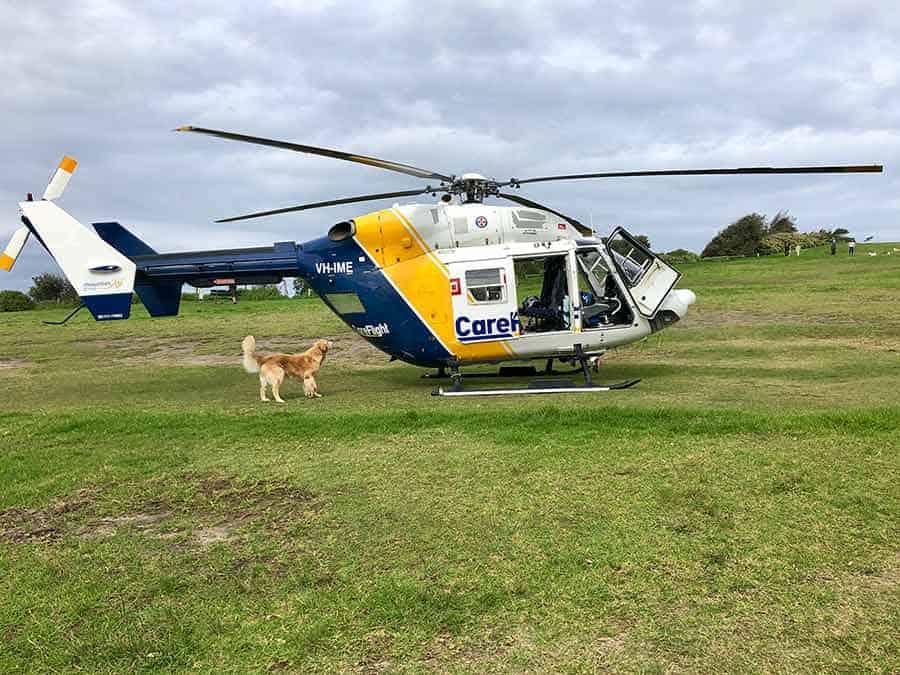 Dozer chopper Mona Vale headlands