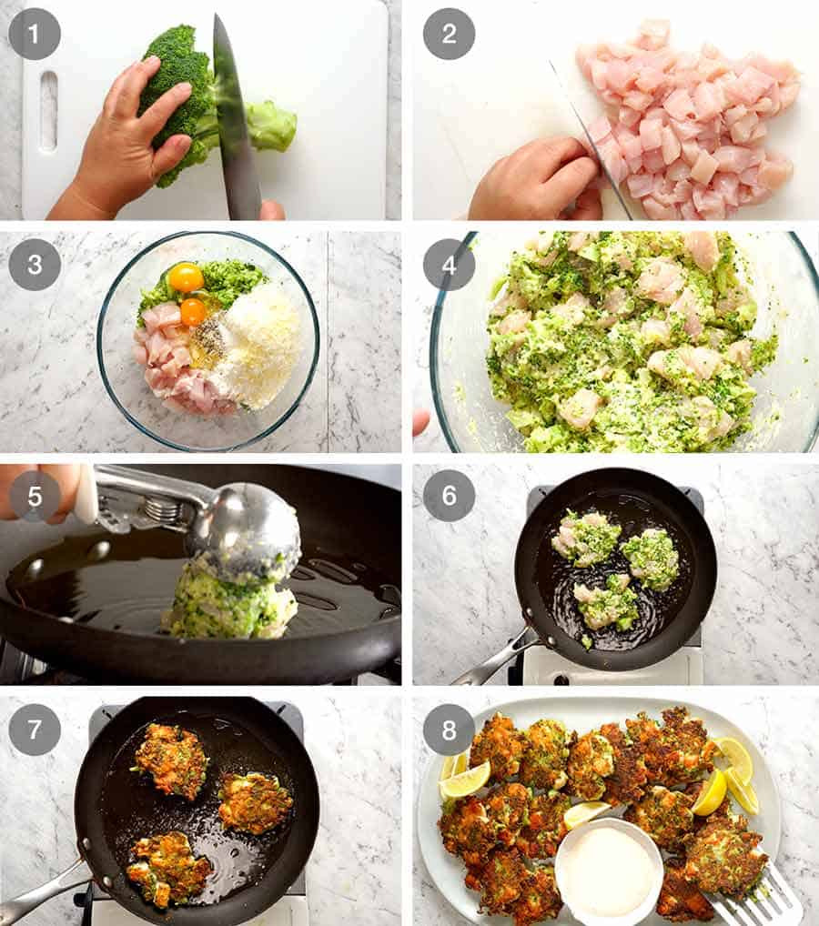 How to make Broccoli Chicken Fritters