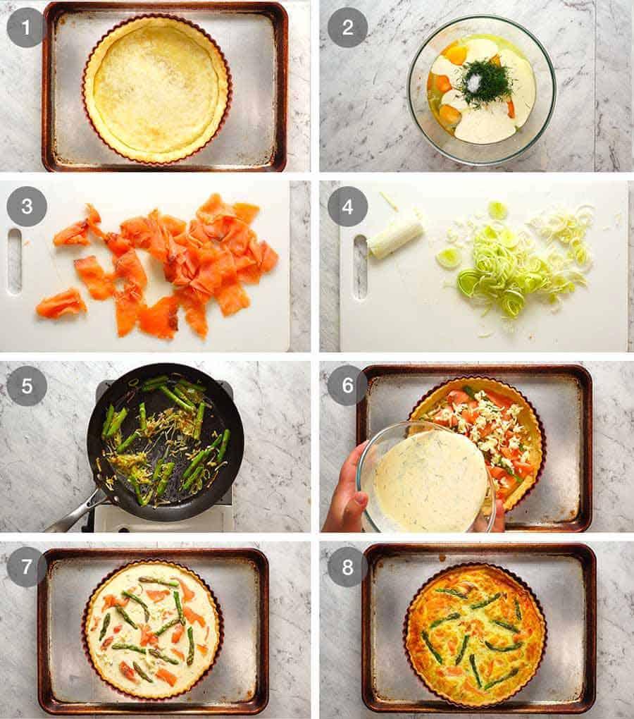 How to make Salmon Quiche