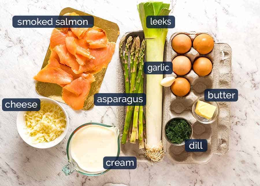Ingredients in Salmon Quiche