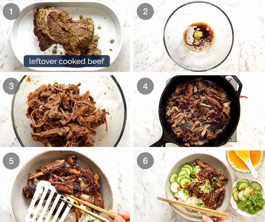 Making Vietnamese Shredded Beef