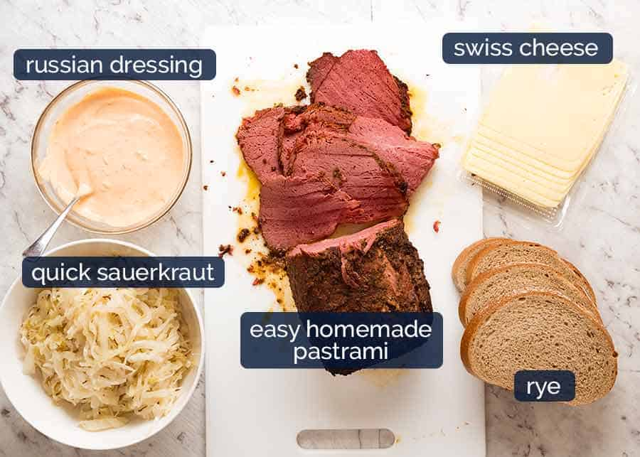 What goes in Reuben sandwich