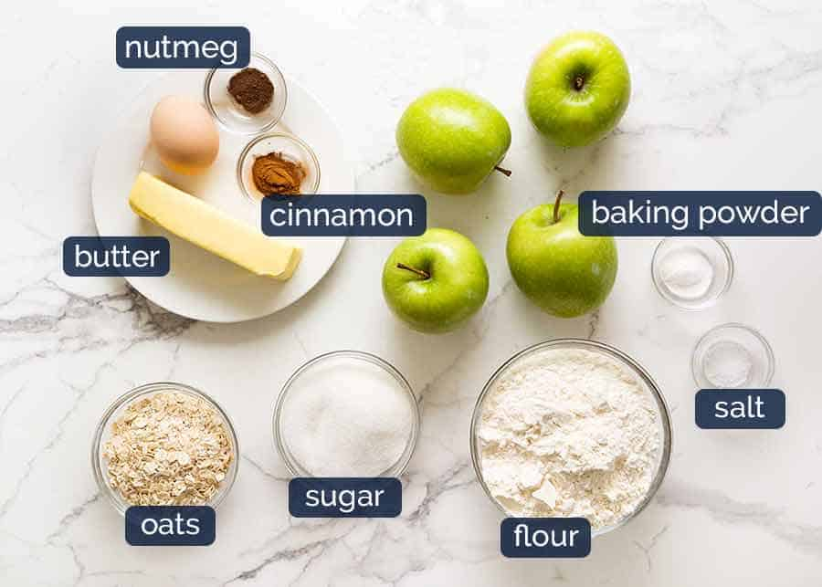 Apple Crumble Bar ingredients