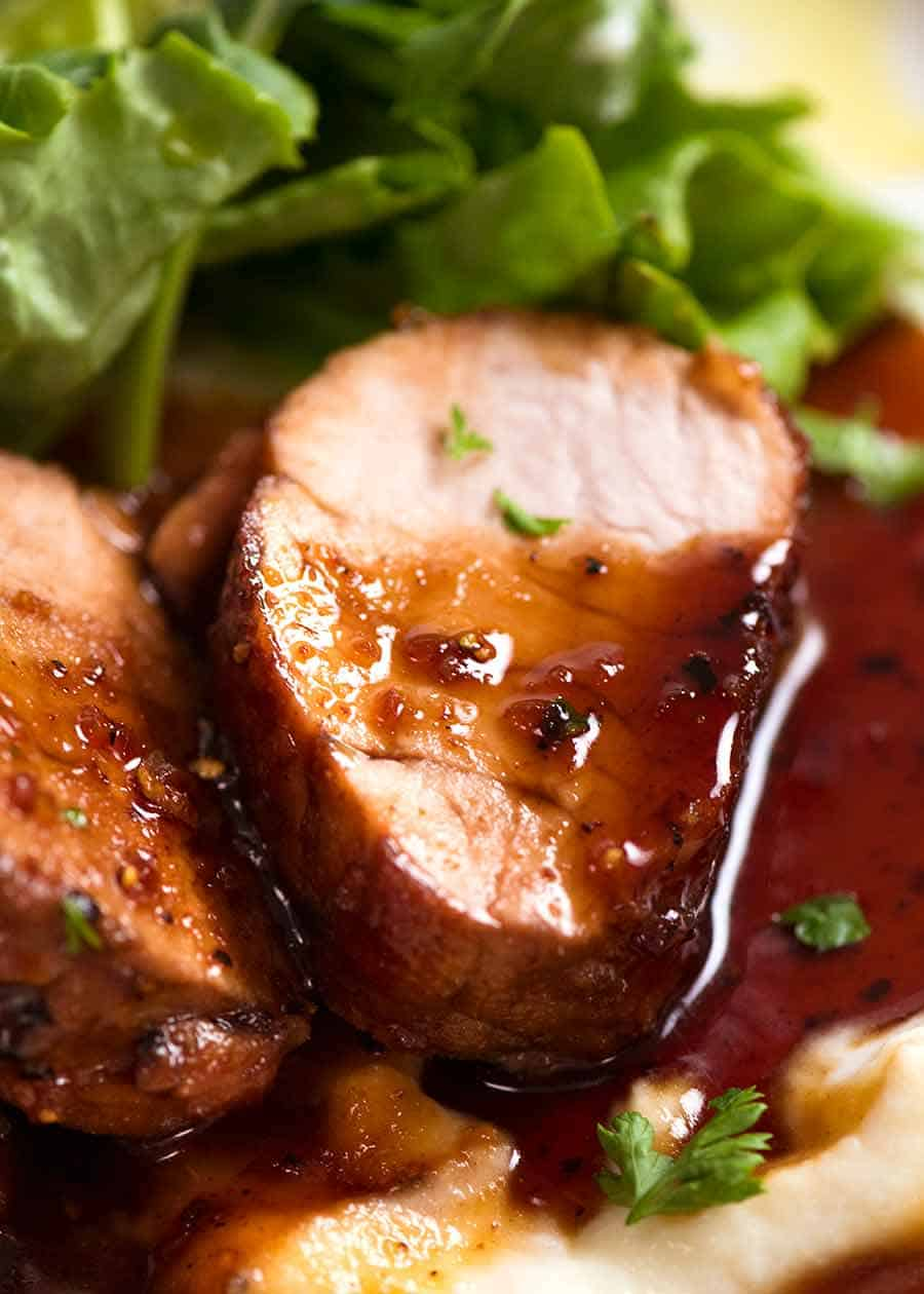 Pork Tenderloin with Honey Garlic Sauce