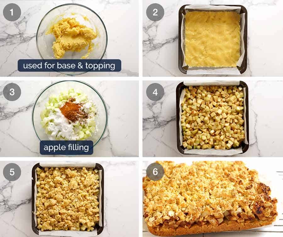 How to make Apple Crumble Bars