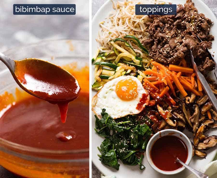 What goes in Bibimbap