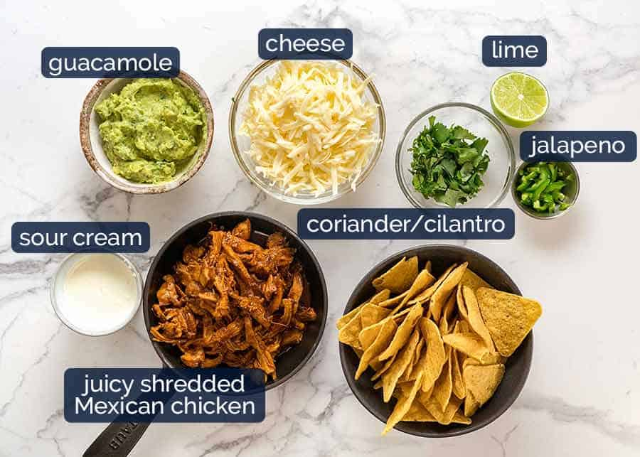 Chicken nachos ingredients