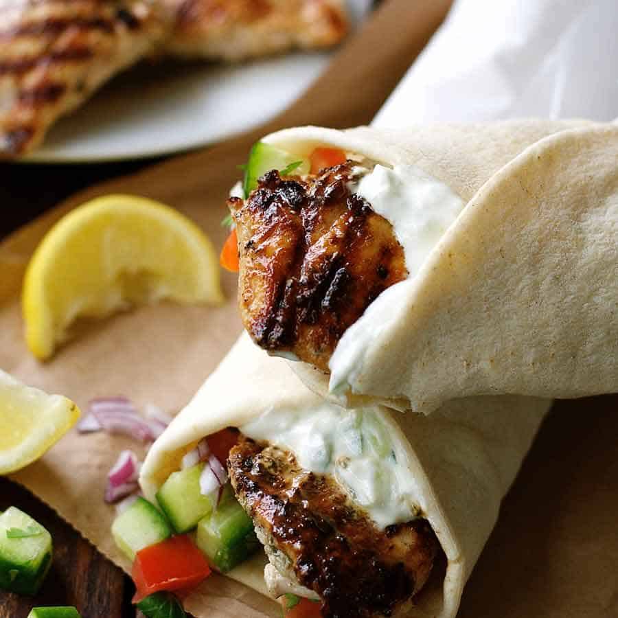 Greek Chicken Gyros - terrific Greek marinade!