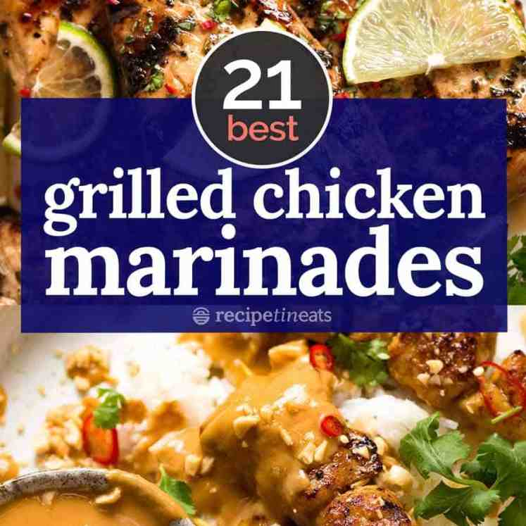 BEST Grilled Chicken marinades