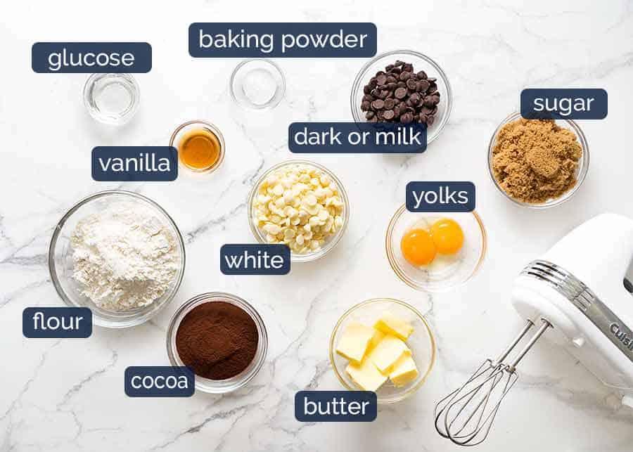 Ingredients in Triple Chocolate Cookies