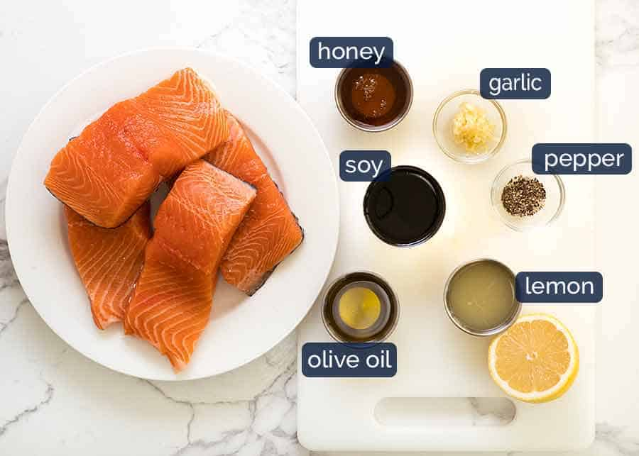 Salmon Marinade ingredients