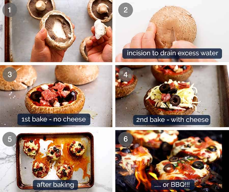 How to make Pizza Stuffed Mushrooms