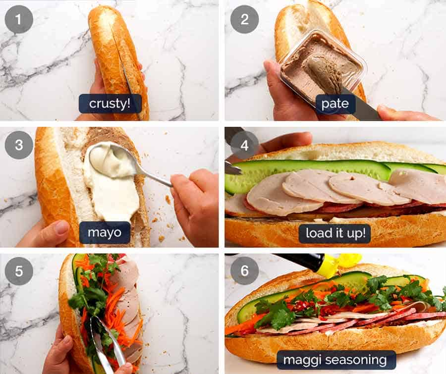 How to make Banh Mi Vietnamese Sandwich