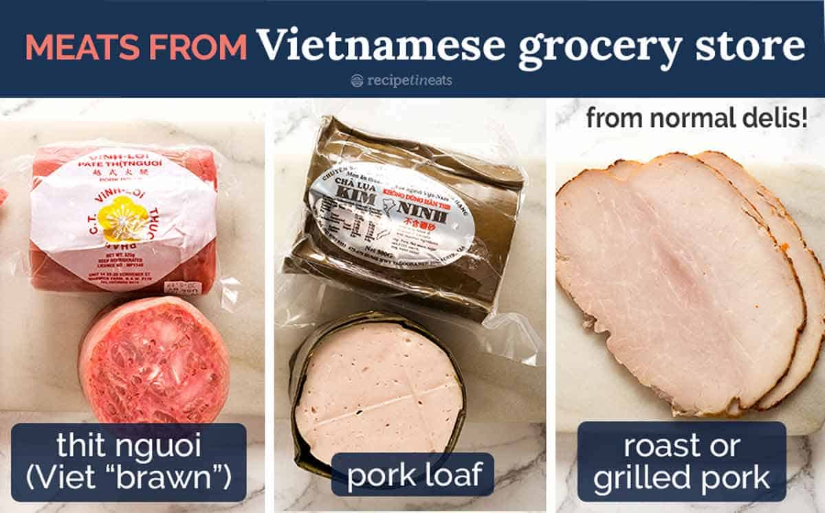 Meat for Banh Mi Vietnamese Sandwich from Vietnamese grocery stores