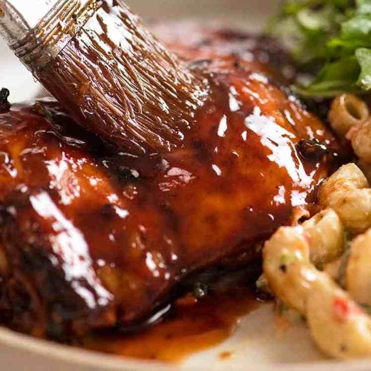 Basting Sticky Grilled Chicken