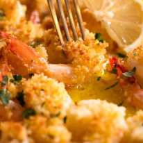 Crispy Baked Shrimp in Lemon Garlic Butter Sauce (Baked shrimp scampi)