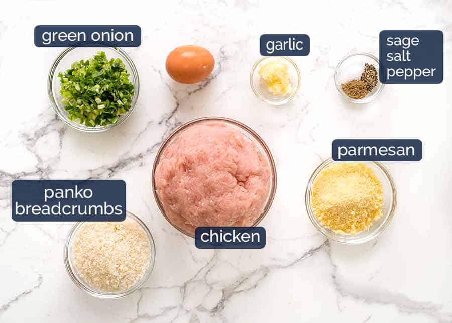 Ingredients in chicken burger patties