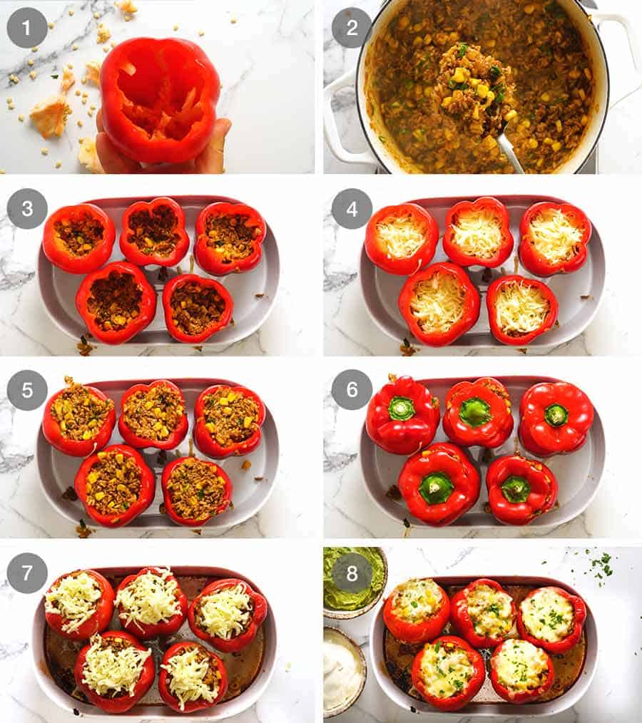 How to make Mexican Stuffed Peppers