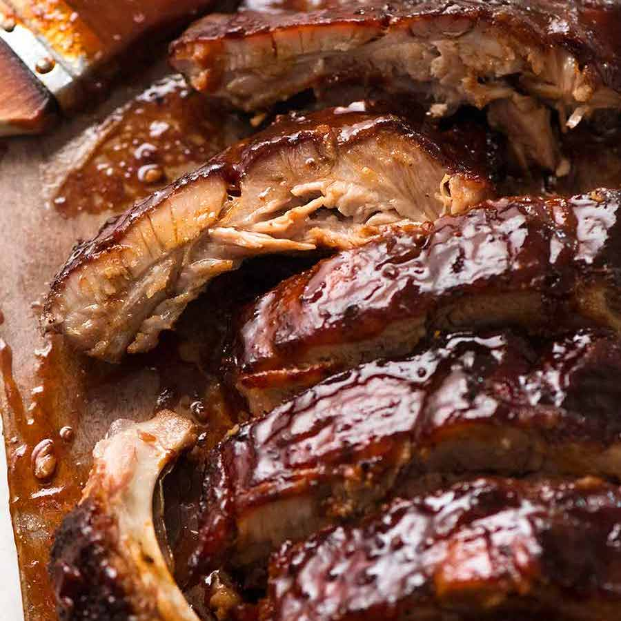 Oven Pork Ribs With Barbecue Sauce Recipetin Eats