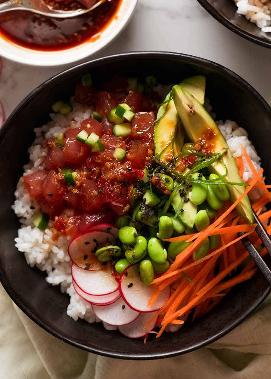 Tuna Poke Bowl Recipetin Eats