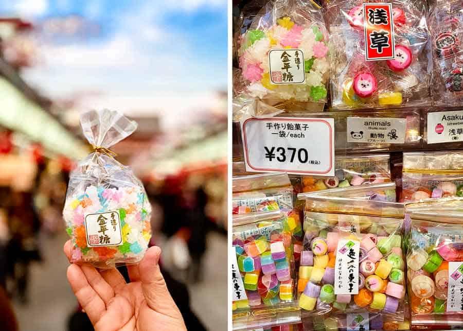 Asakusa candy from shopping street