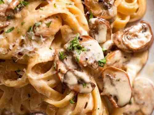 Creamy Mushroom Pasta Recipetin Eats