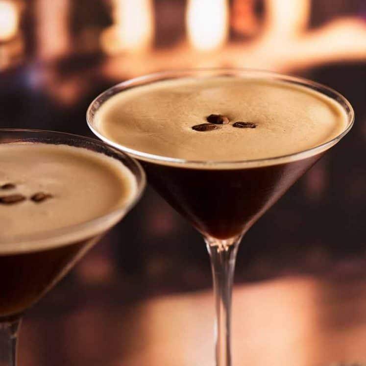 Espresso Martinis in a bar