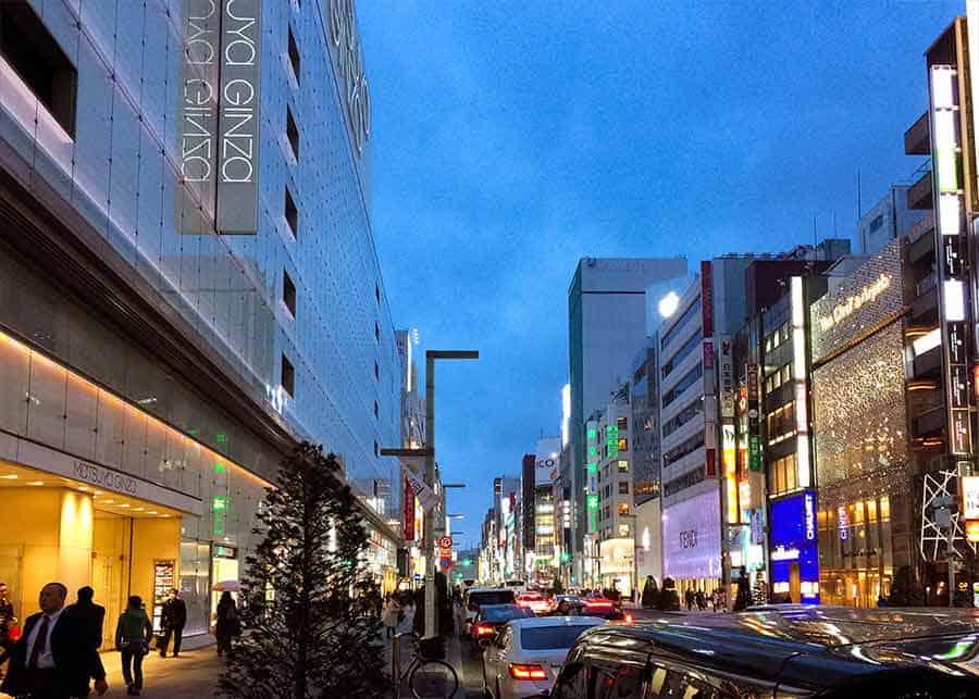 Ginza Tokyo street shot