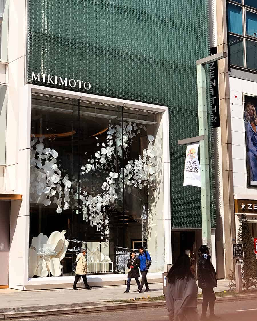 Ginza Mikimoto pearls