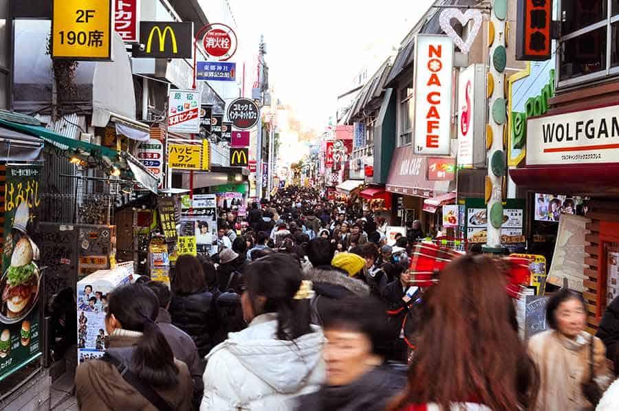Harajuku Takeshito Dori street
