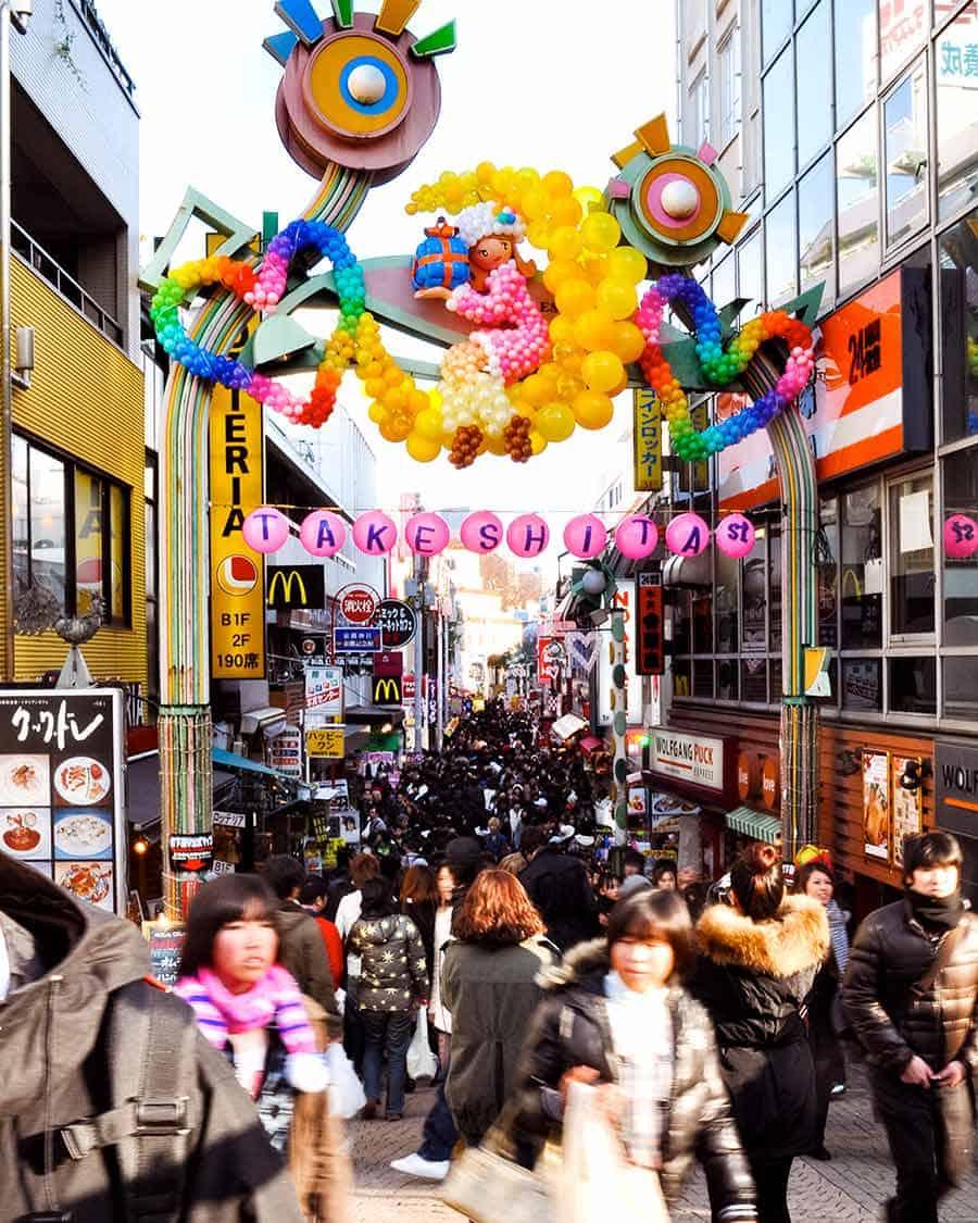 Harajuku - famous for Takeshito Dori street