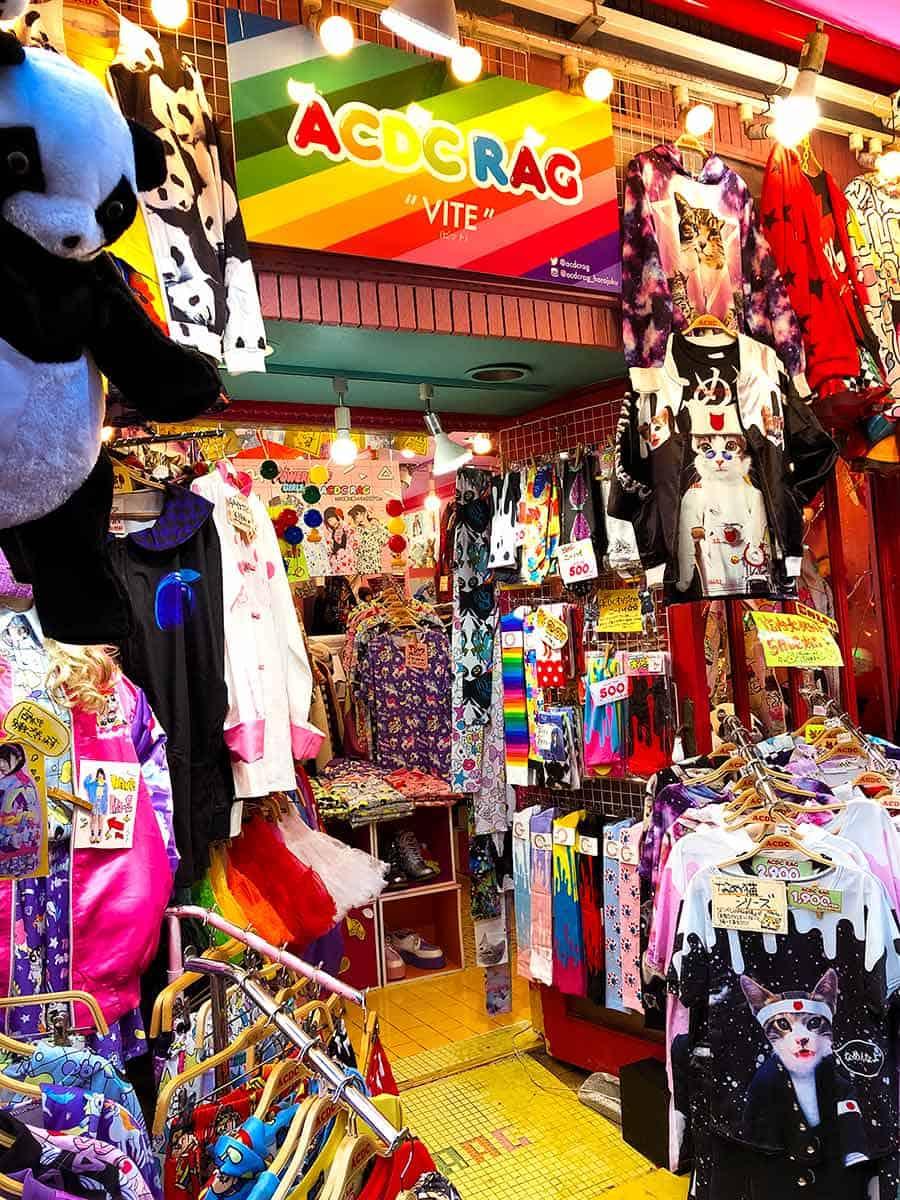 Harajuku Takeshito Dori street - colourful store