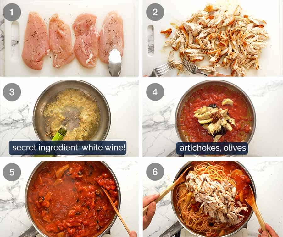 How to make Sicilian Chicken Pasta
