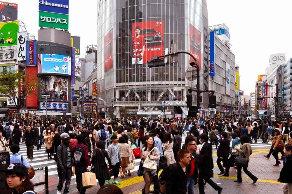 Shibuya Tokyo - famous pedestrian crossing