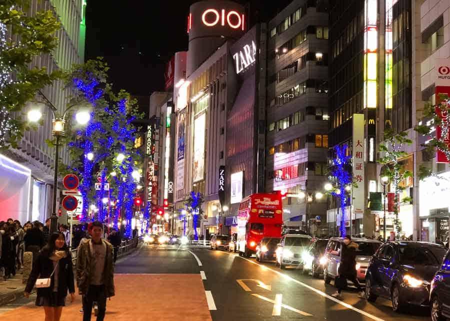 Shibuya night street shot