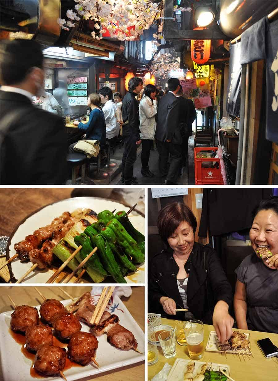 "Omoide-yokocho (""memory lane""), also known as Shonben-yokocho (""piss alley"") - great bars in Shinjuku, Izakaya Yakitori"