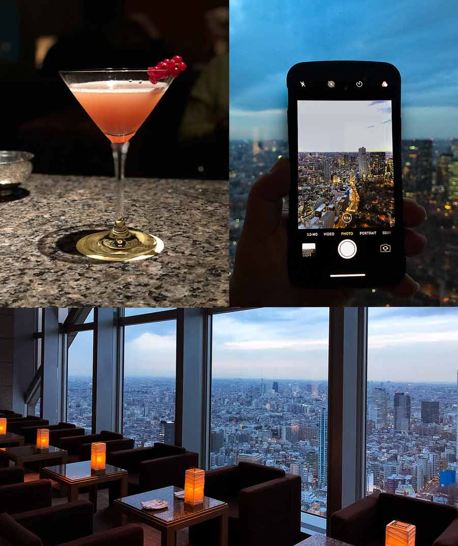 Park Hyatt Shinjuku wine cocktail bar great views over Shinjuku