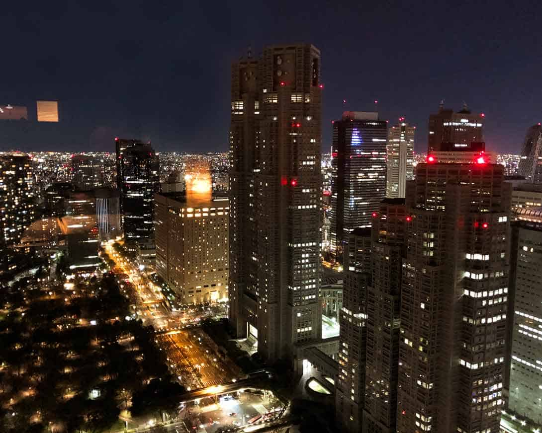 Shinjuku aerial photo from Park Hyatt Bar