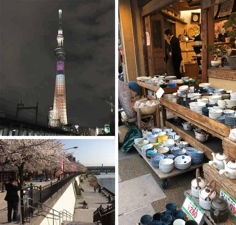 Asakusa Area Guide - Tokyo Skytree, Sumida Park and Kappabashi Kitchen Town shopping