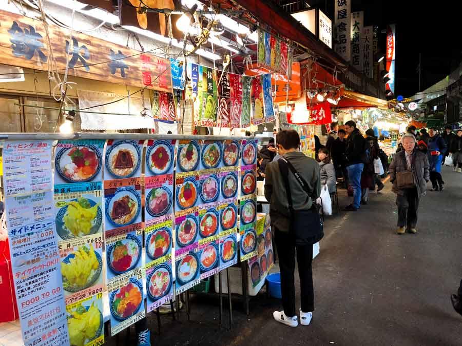 Ueno Ameyoko Street Food