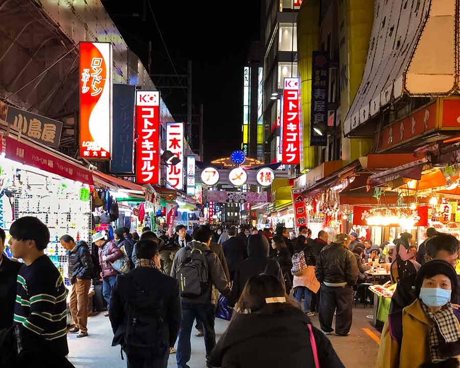 Ueno Tokyo - Ameyoko street food