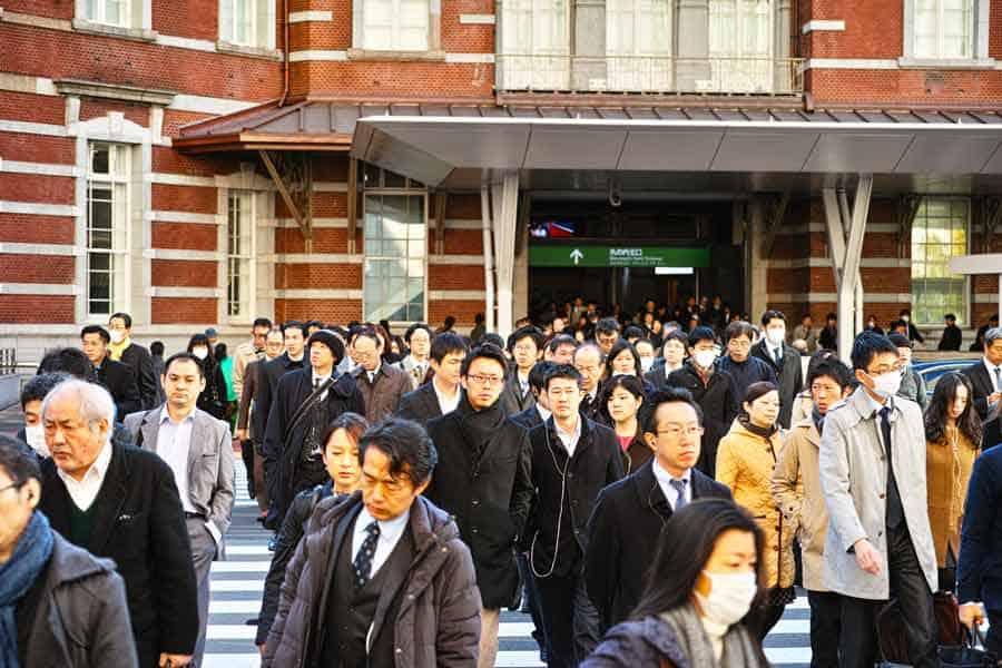 Tokyo station crowd