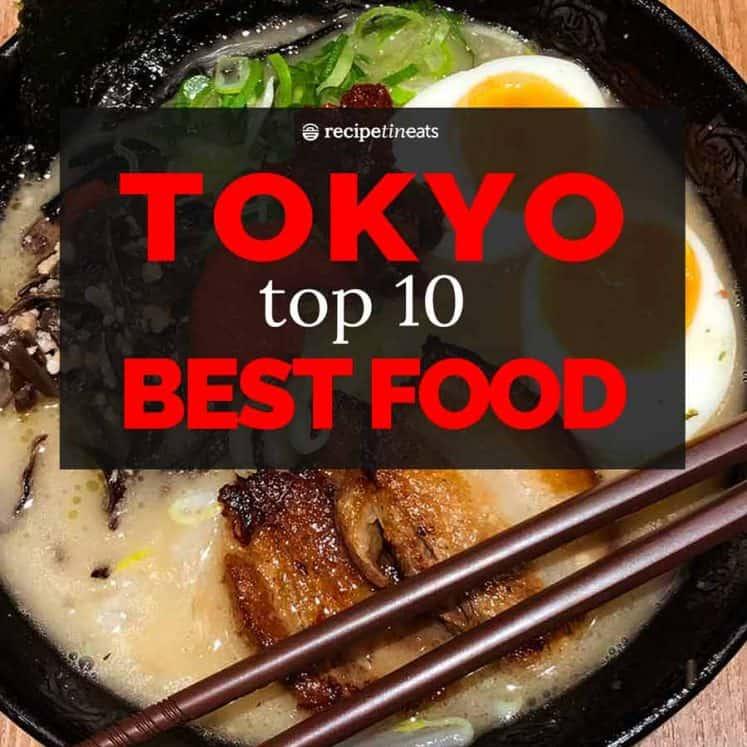 Top 10 BEST FOOD in Tokyo Japan