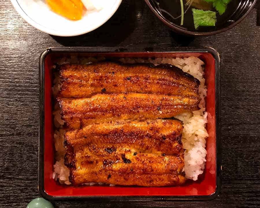 Unagi - Japanese grilled eel over rice in Asakusa