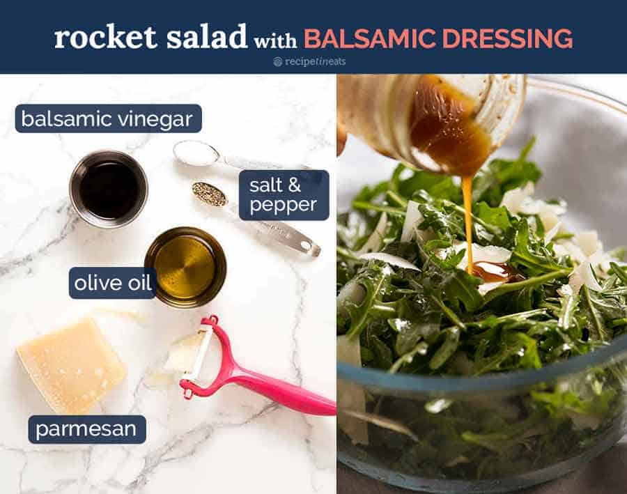 What goes in Rocket-Salad-with-Balsamic-Glaze