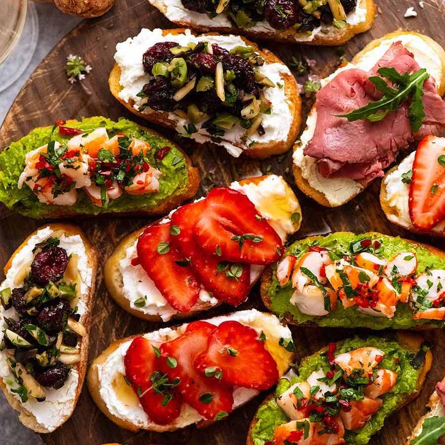 Holiday Crostini 8 Delicious Ways Recipetin Eats