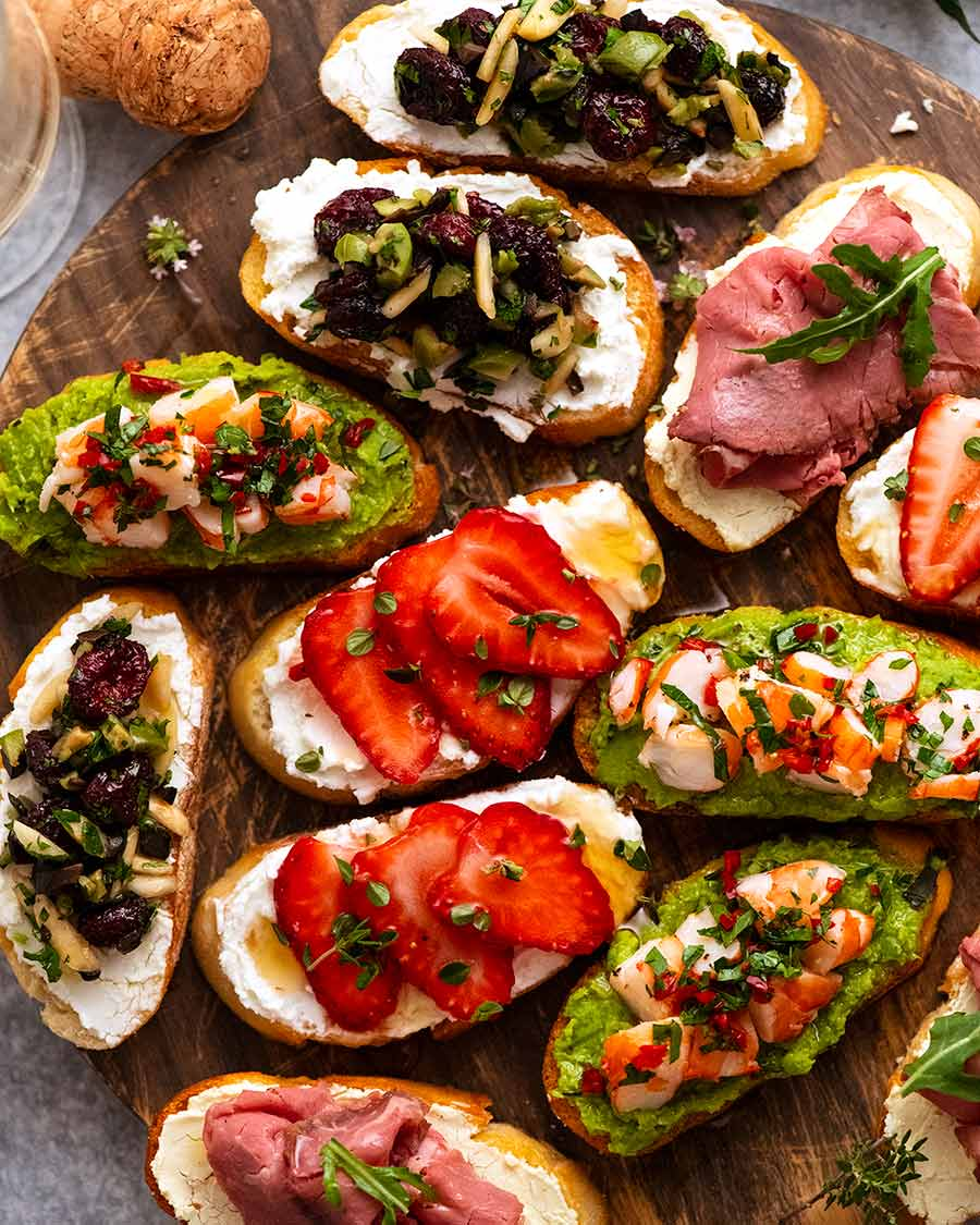 Holiday Crostini Topping Ideas