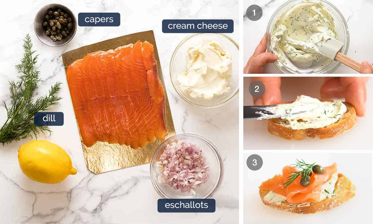 How to make Smoked Salmon Crostini