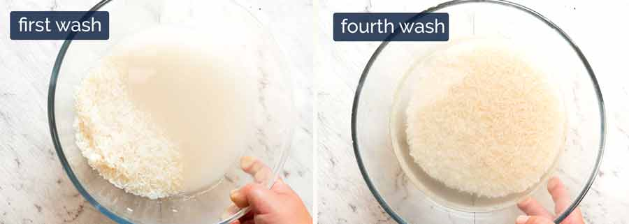 How to wash rice