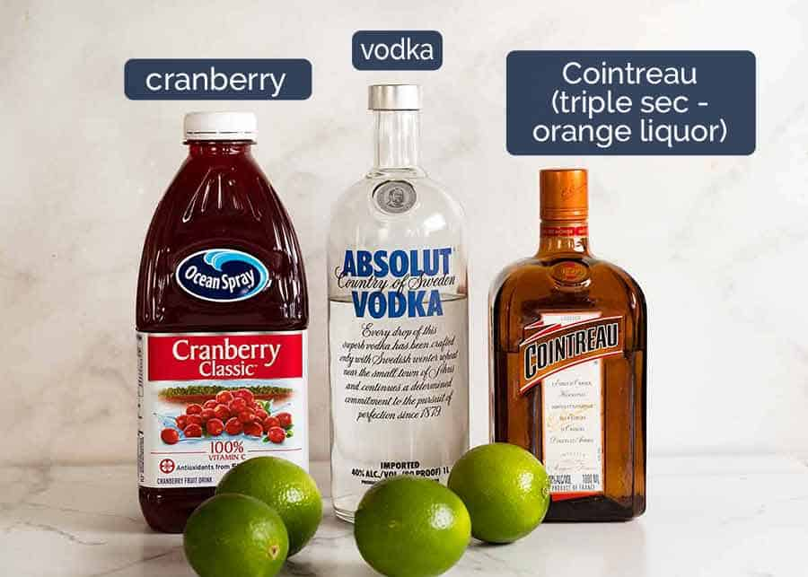 What goes in Cosmopolitan cocktails